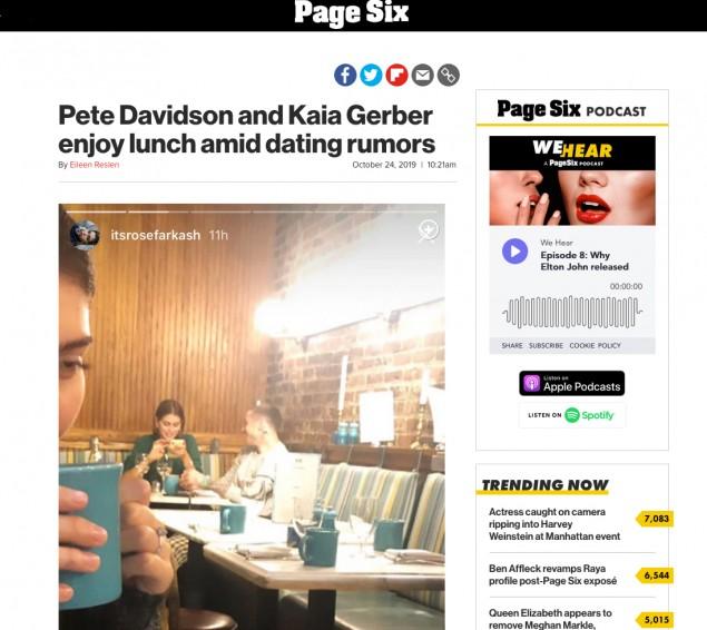 Pete Davidson, Kaia Gerber