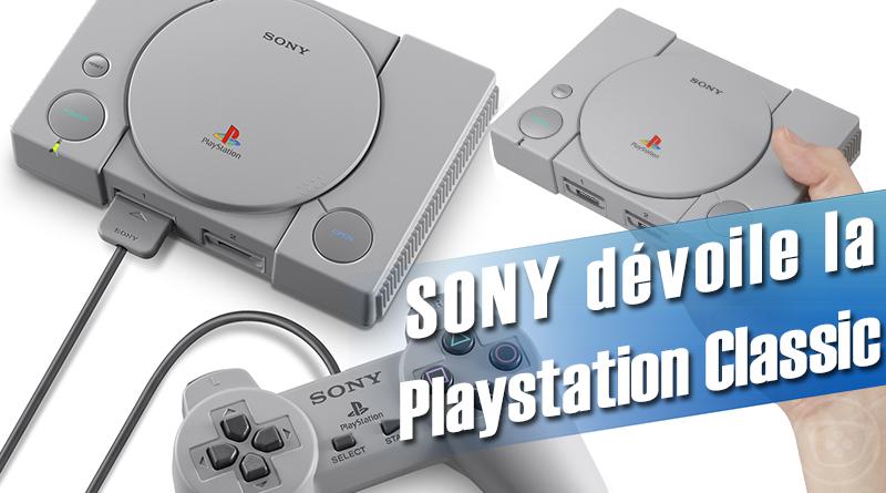 La Playstation Classic s'annonce avec 20 jeux préchargées et une sortie pour Décembre 2018