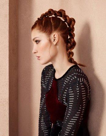 Look con la treccia alla Hair Fashion Night 217