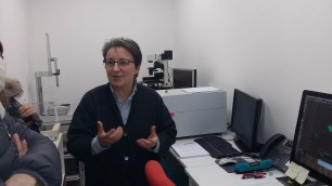 Laura Calzà in laboratorio