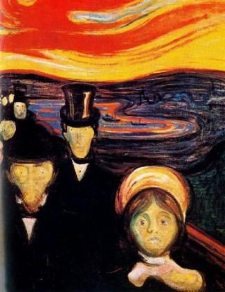 """""""Anxiety""""Edward Munch"""