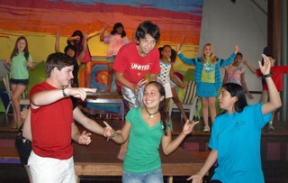Acting, Singing, Dancing with Camp Friends!