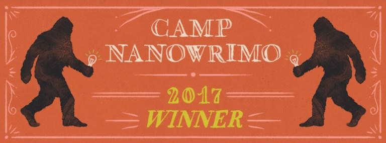 Camp NaNoWriMo winner 2017