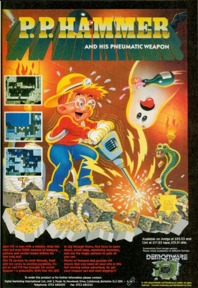 Poster ad for P.P Hammer video game