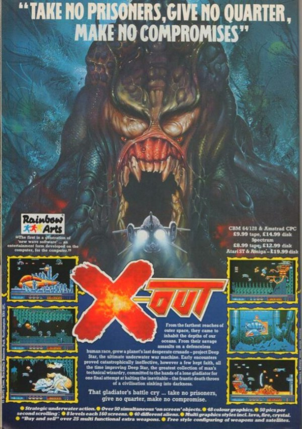 Old computer game advert for x-out