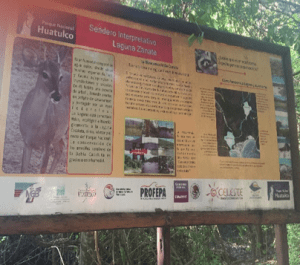 Manejo de visitantes en El Zanate