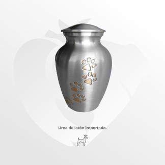 Urna de latón importado Vasija