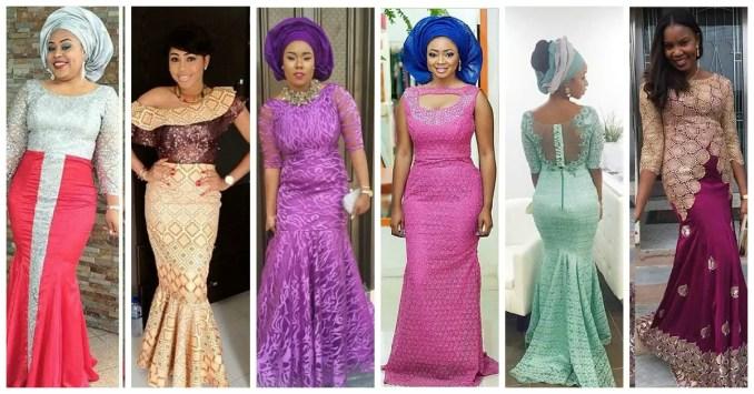 colorful Aso Ebi In Lace Lookbook #3-amillionstyles