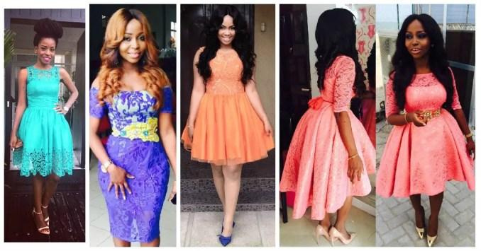 amazing asoebi short gown-amillionstyles