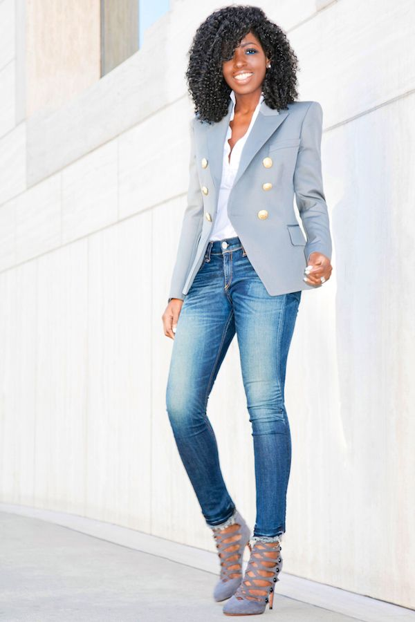 Denim and Blazers: The Casual and Simple Look Inspiration