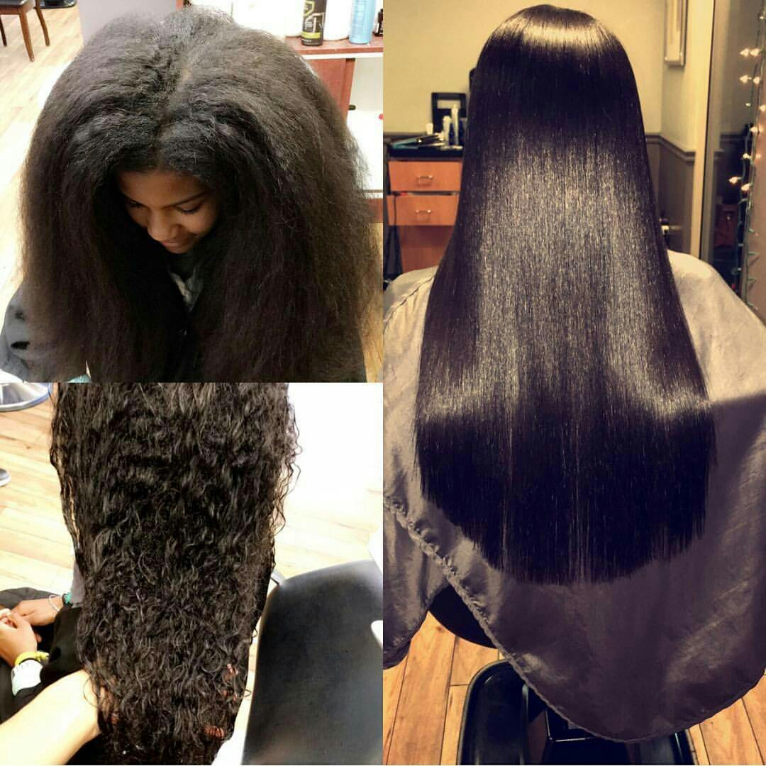 Tutorial How To Straighten And Trim Natural Hair