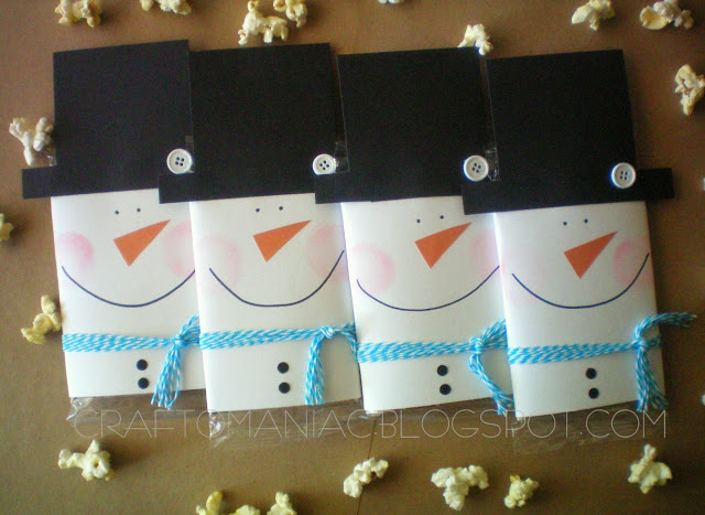 DIY Holiday Gift Idea: Popcorn Snowmen