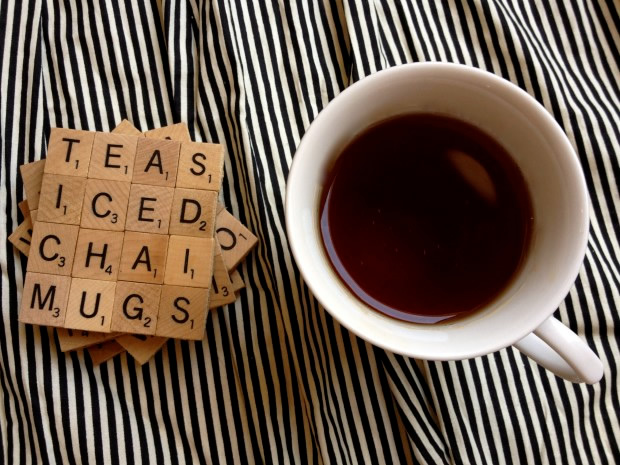 DIY Holiday Gift Idea: Scrabble Coasters
