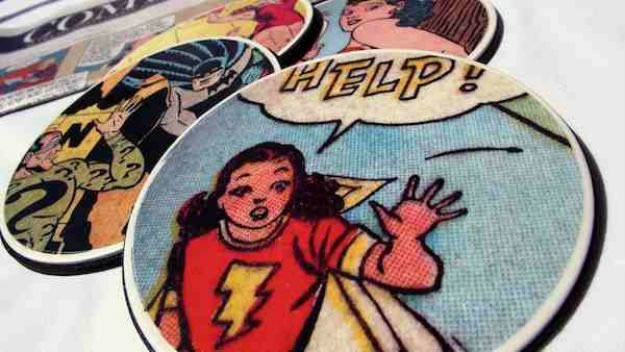 Homemade Valentine's Day Gifts: Comic Coasters