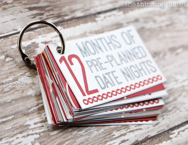 Homemade Valentine's Day Gifts: 12 Months Of Date Nights