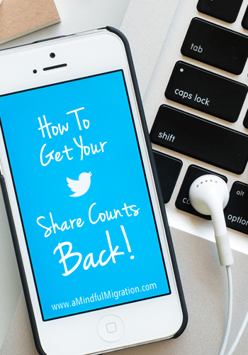 How To Get Your Twitter Share Counts Back: I'll walk you through the process, including where to add the code to your Genesis Theme.