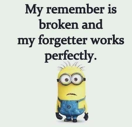 My remember is broker and my forgetter works perfection (minion meme)