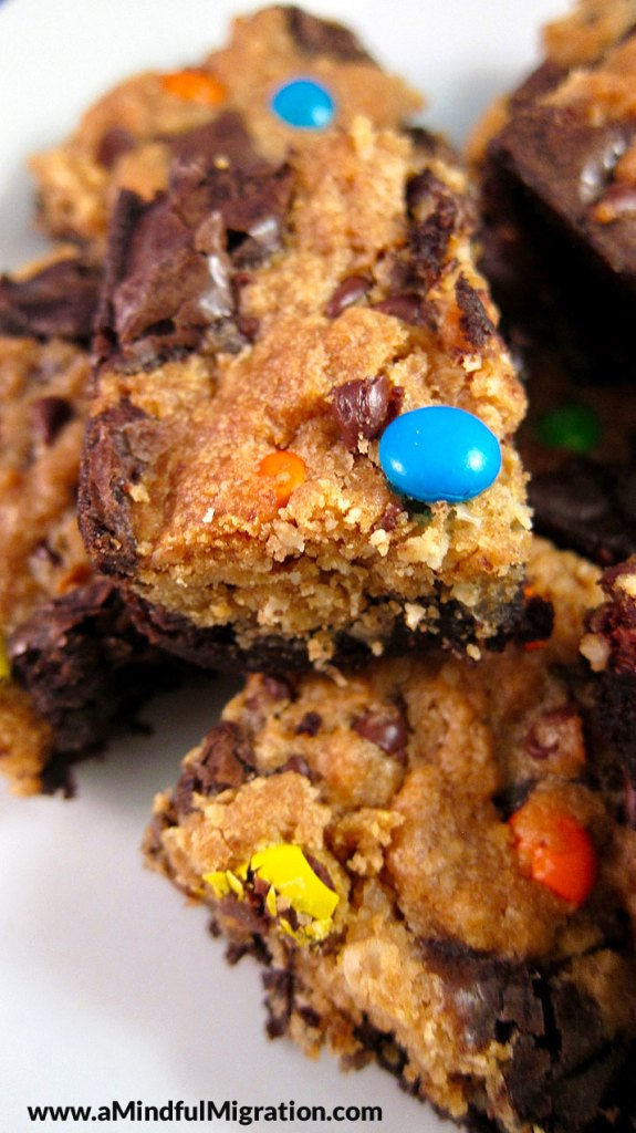Monster Brookies, aka Monster Cookie Brownies