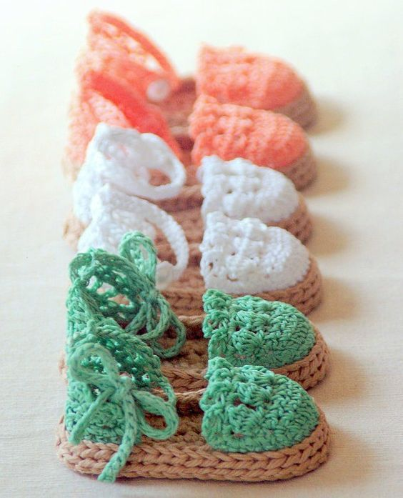 Knitted Baby Sandals Patterns