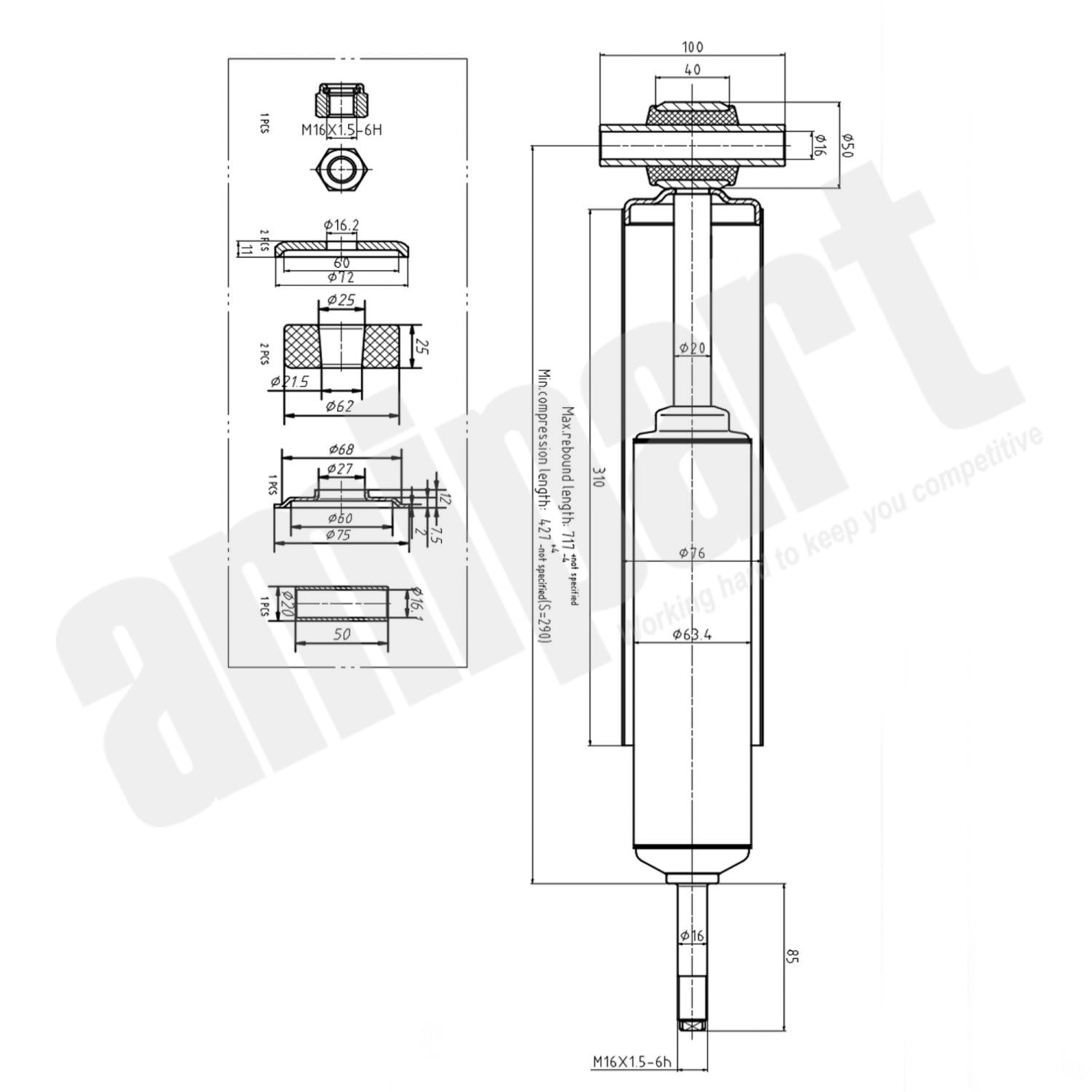 Amipart Shock Absorber Am