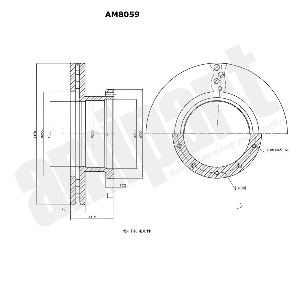 Amipart Brake Disc Am