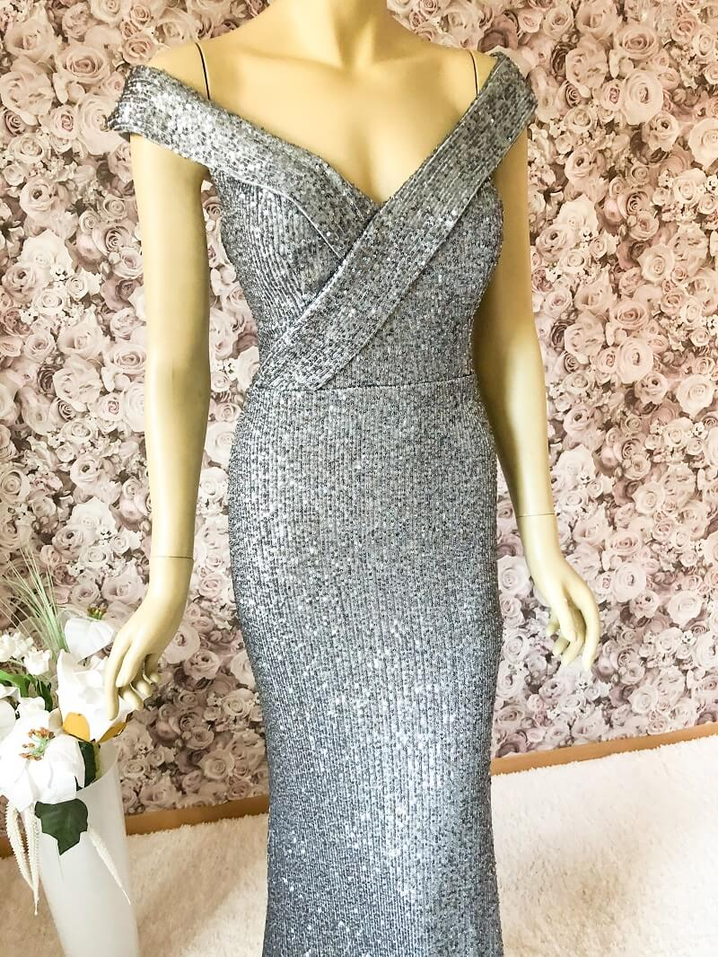 Elegantes Abendkleid Silber