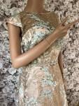 Festliches Kleid beige