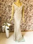 Elegantes Pailletten-Kleid Gold