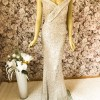 Pailletten-Kleid Gold/Multicolor-Abendkleid-Pailletten