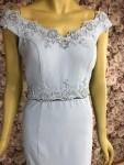 Kleid bodenlang hellblau