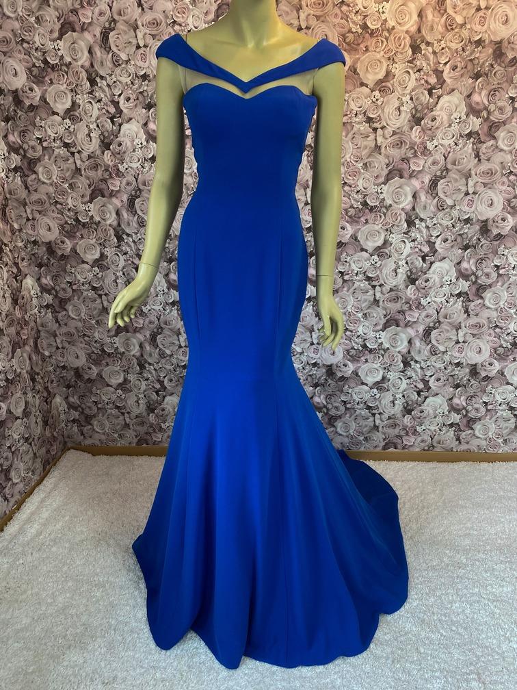 Meerjungfrauenkleid Royalblau-Langes Abendkleid-Festliches Kleid