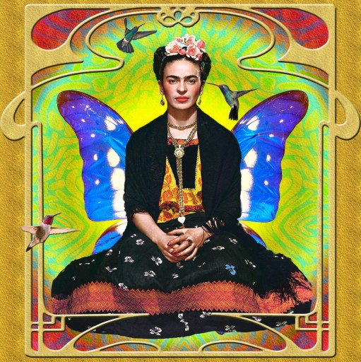 Design by Amira El-Fohail of Frida Kahlo.