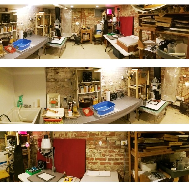 My Darkroom; panorama photos taken with cell phone...