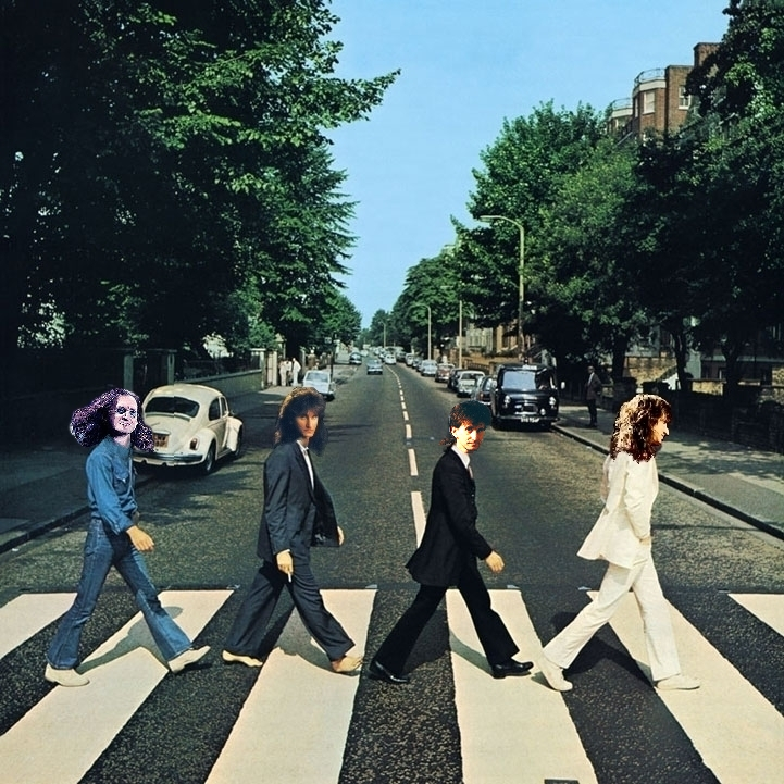 Album cover parody of Abbey Road by The Beatles Originally: