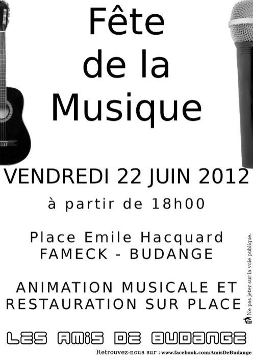 Tract - Fête de la Musique - 2012
