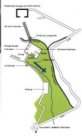 Plan de Port-Royal des Champs