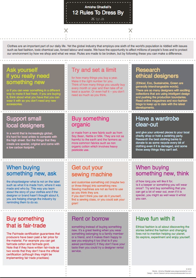 12 Rules To Dress By - Poster (low res)