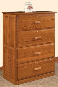 Solid Wood Tradititional Lateral File Cabinet