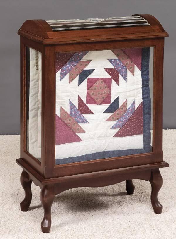 Medium Quilt Display Case  Solid Wood