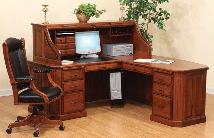 Fifth Avenue Executive Corner Roll Top Desk