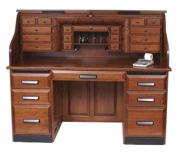 Deluxe Cherry Rolltop Desk