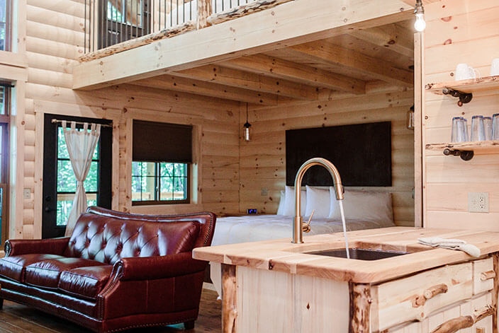 Giant Treehouse Cabins in Ohio by Amish Country Lodging