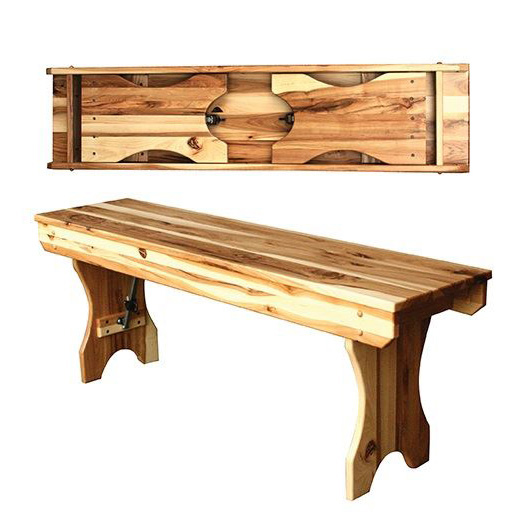 Fold Up Leg Bench Amish Crafted Furniture