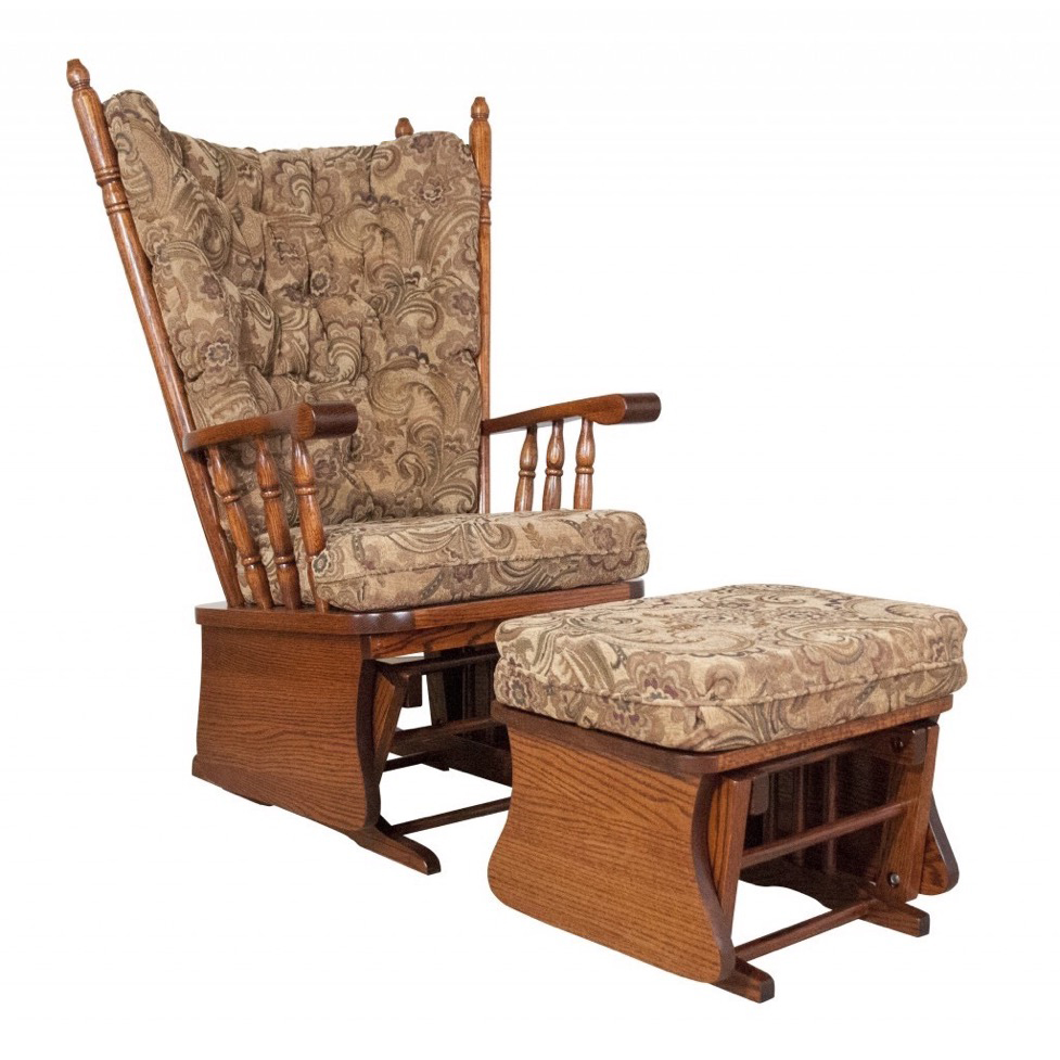 Highback Glider Rocker Amish Crafted Furniture