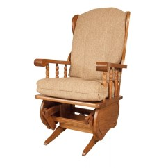 Rocker Glider Chair High Back Mesh Amish Crafted Furniture