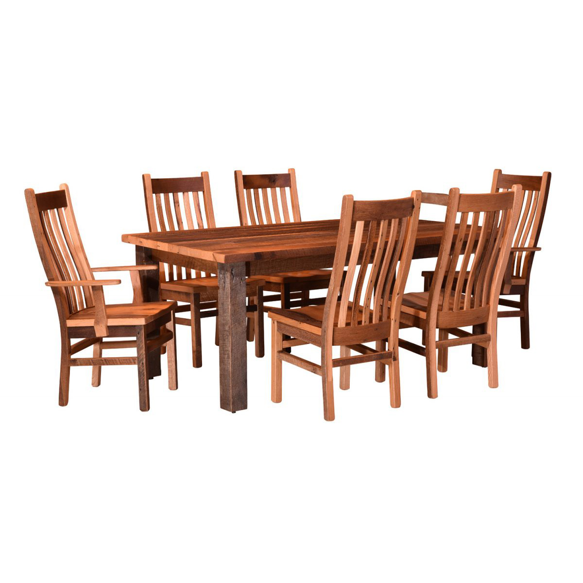 barnwood dining room chairs keller barber chair parts almanzo table square leg amish crafted