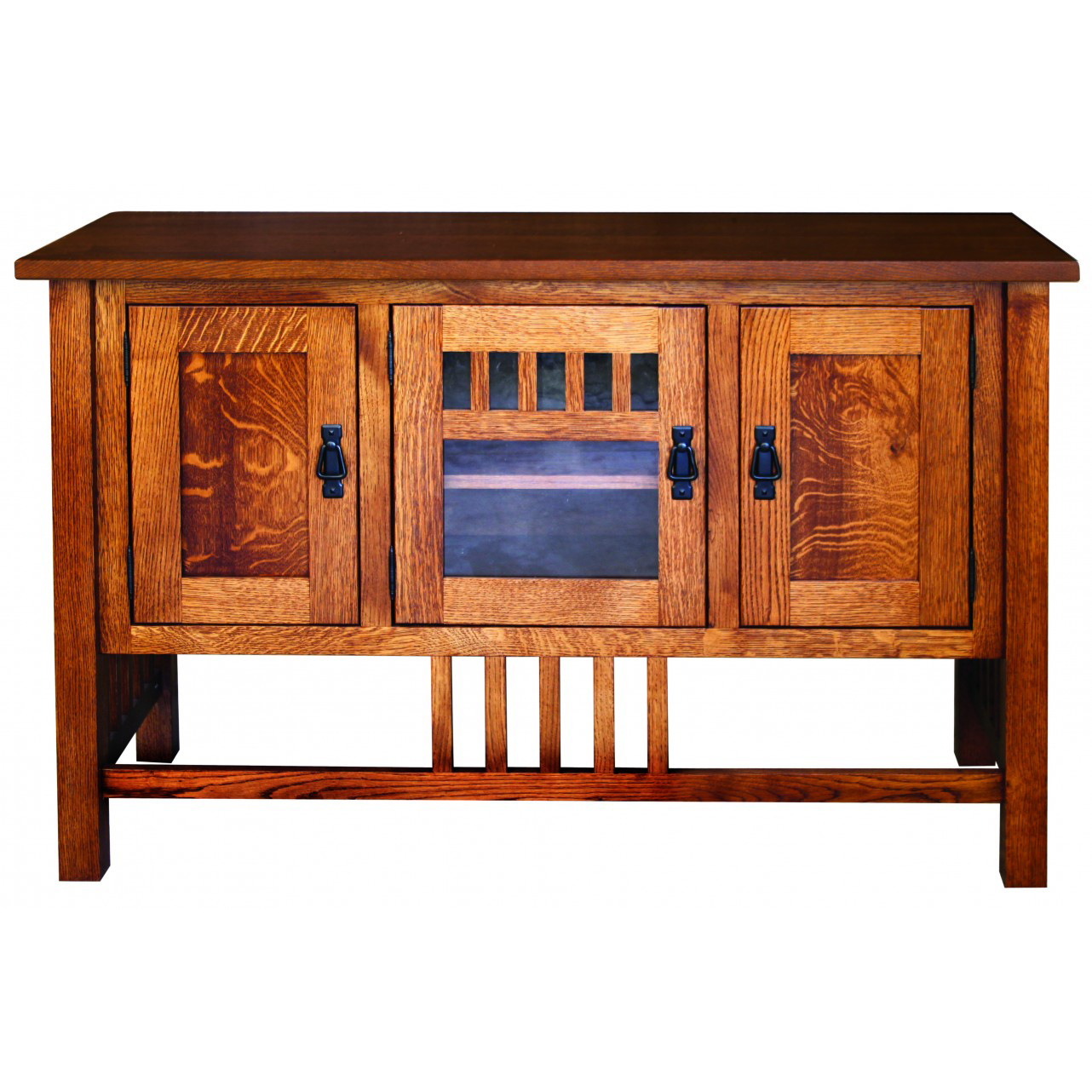 Classic Mission Style TV Stand 50 W  Amish Crafted Furniture