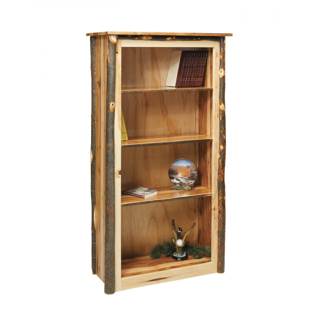 Rustic Bookcase  Amish Crafted Furniture