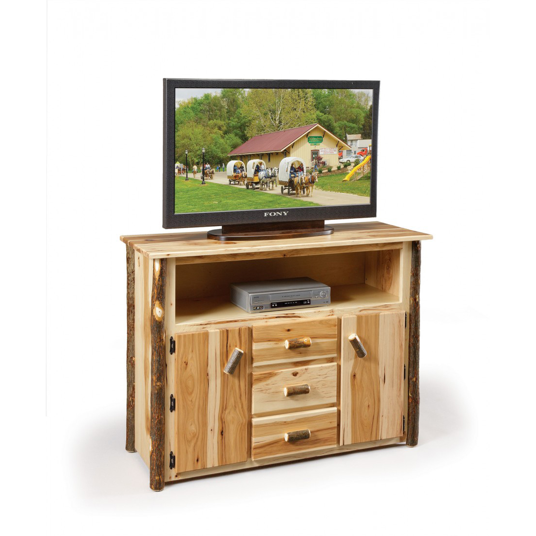 Rustic TV Stand Amish Crafted Furniture