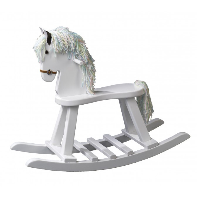 White Childs Rocking Horse Amish Crafted Furniture